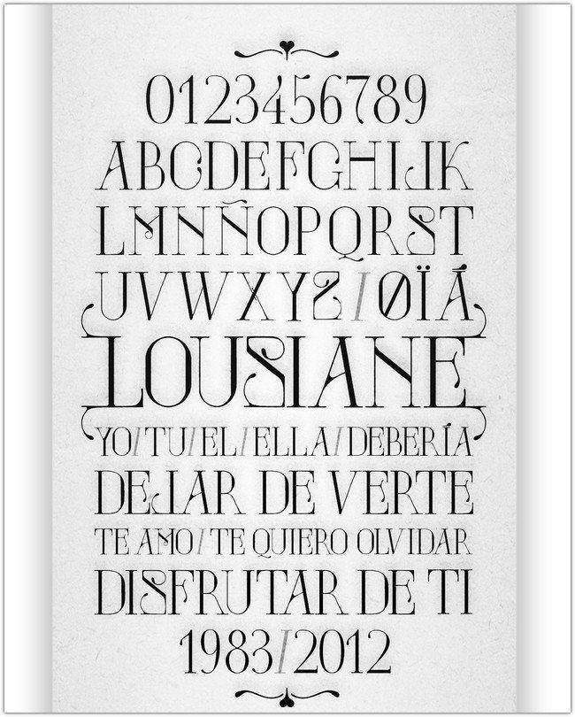 Lousiane Typography