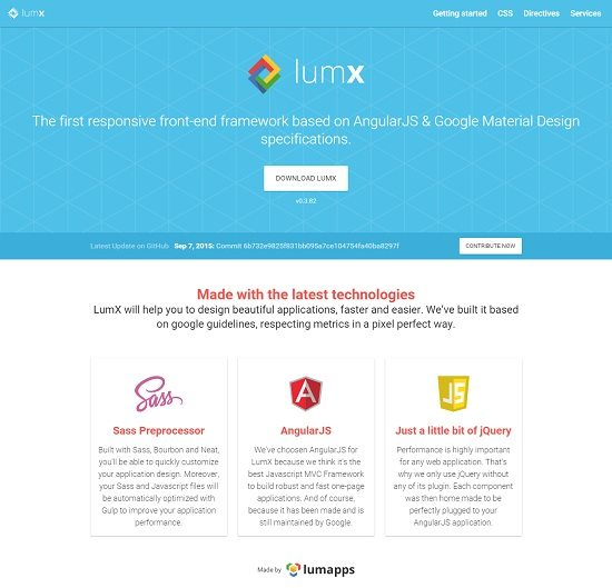 LumX Front End Framework