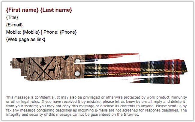 Lumberjack Gmail Sign Template
