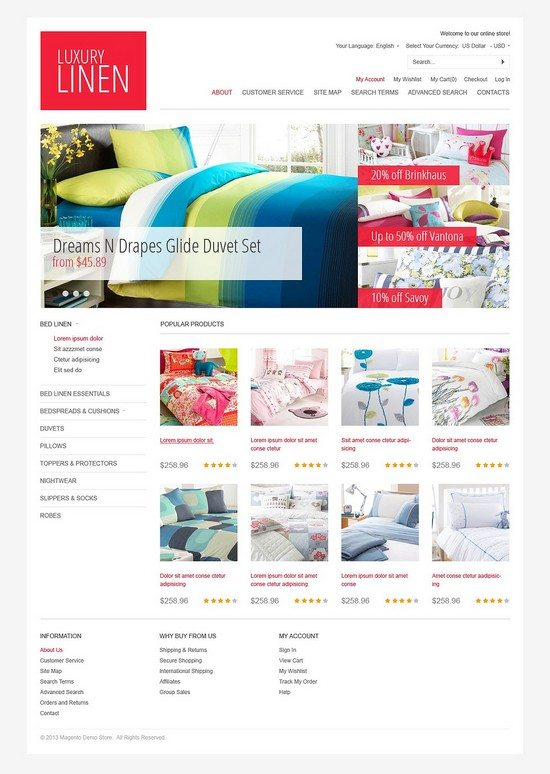 Luxury Linen Magento Theme