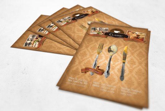 Luxury Restaurant A4 Flyer