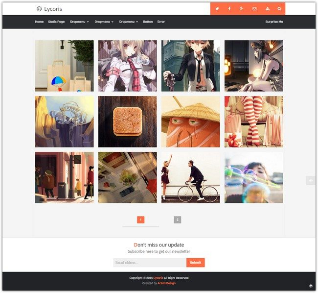 Lycoris v2.1 Blogger Template