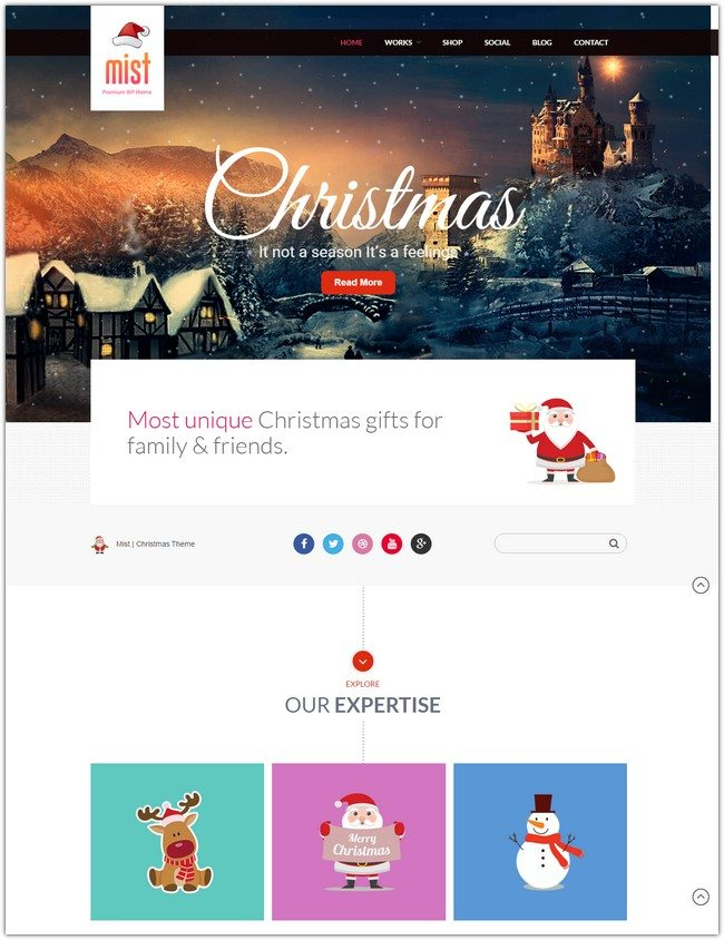 MIST-CHRISTMAS - Multi Purpose Theme