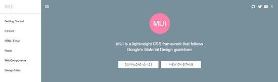 MUI-HTML-CSS-JS-Framework
