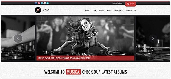MUSICA – ECOMMERCE WEBSITE TEMPLATE (PSD)