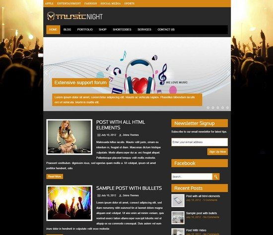 MUSICNIGHT WORDPRESS THEME