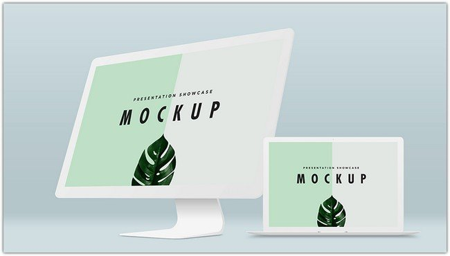 Macbook Pro & IMac Mockup Template