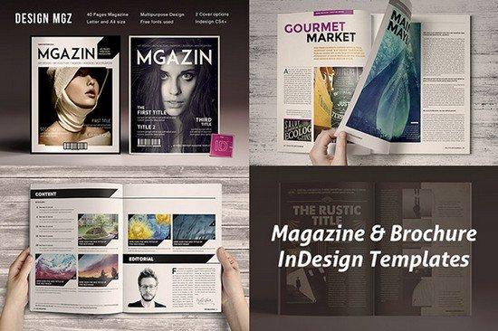 Magazine & Brochure InDesign Templates