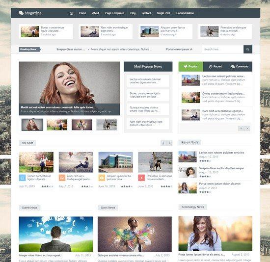 Magazine - Responsive Multipurpose HTML Template