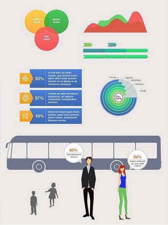 52+ Amazing Free Infographic Elements PSD & Vectors