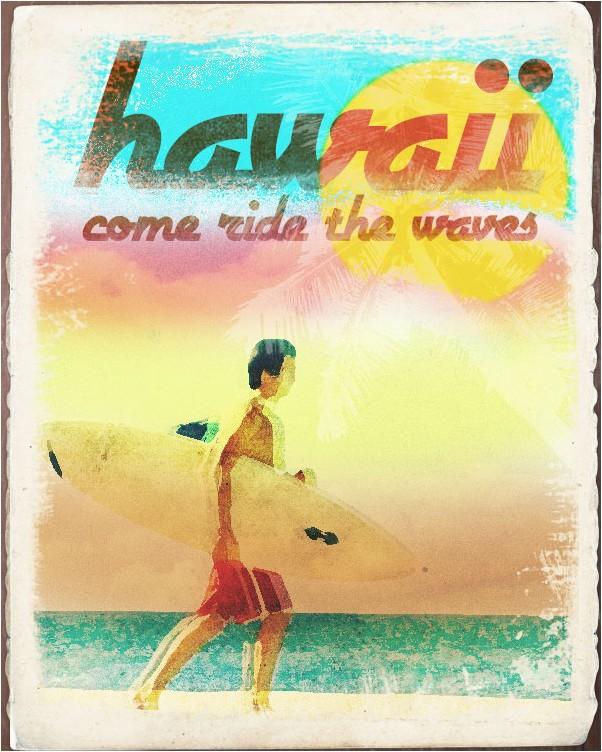 Make a Worn Vintage Beach Ad in Photoshop