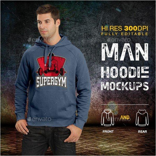 Man Hoodie Mockup