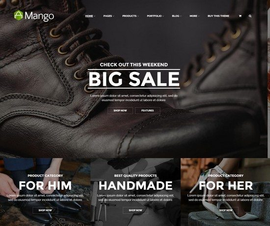 Mango Responsive Ecommerce HTML5 Template