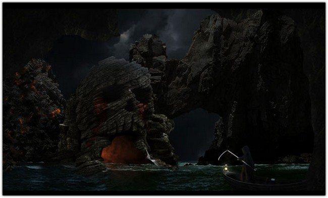 Manipulate an Eerie Sea Cave Scene