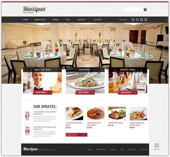 Marzipan Cafe and Restaurant Responsive Joomla Template
