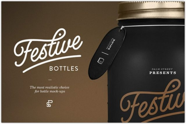 Mason Bottles PSD