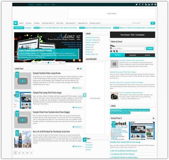 Maxxiz - Responsive Magazine News Blogger Template