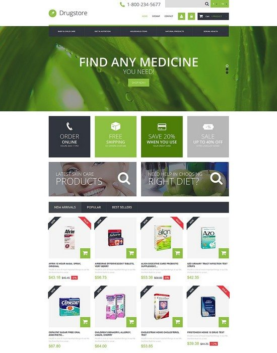 Medical Ecommerce Business PrestaShop Theme