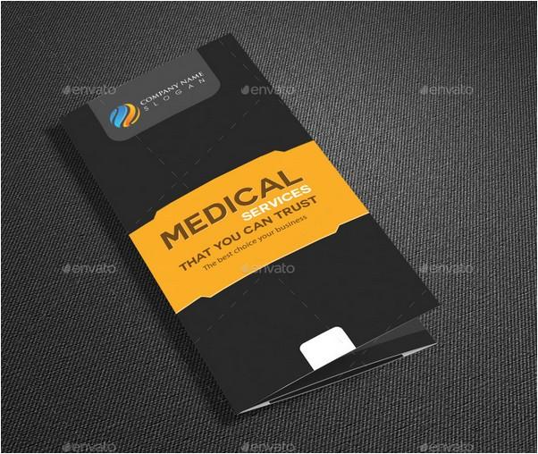 Medical Tri Fold Brochure Template Design