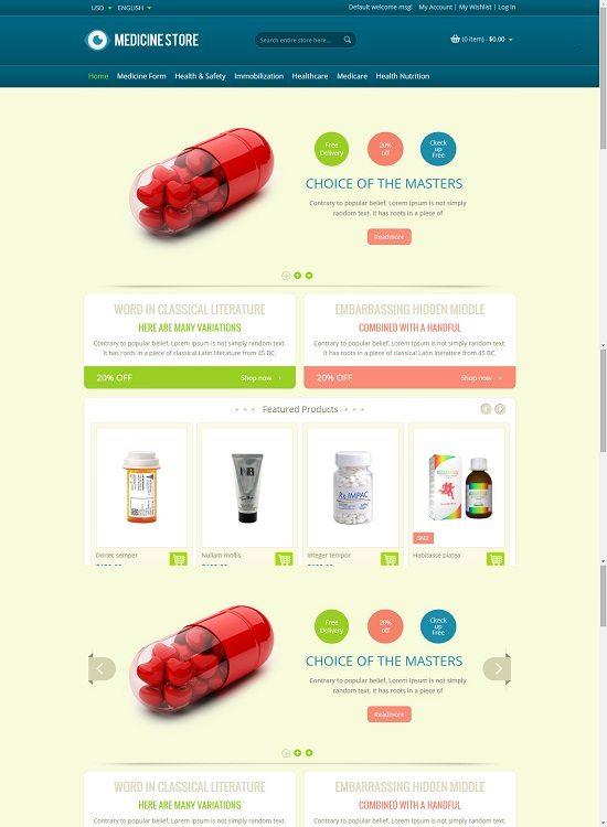 Medicine - Pharmacy Magento Theme