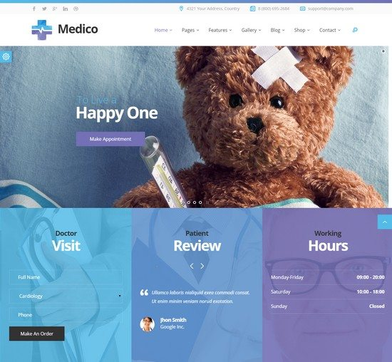 Medico - Medical & Veterinary HTML Template