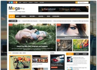 Magazine Responsive Blogger Template