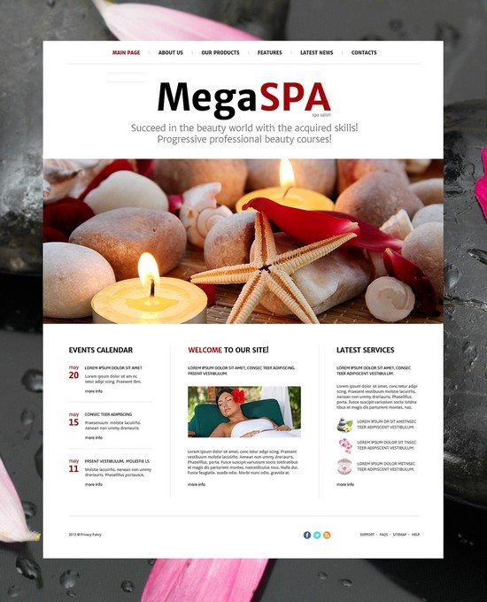 Mega Spa Salon Joomla Template