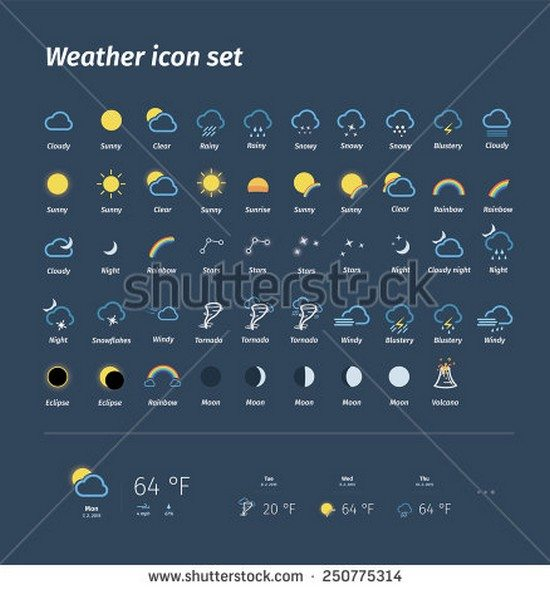 Mega pack of weather icons
