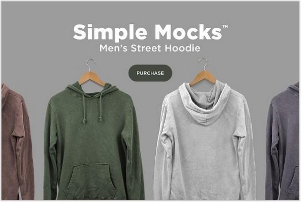 Men's Street Hoodie Mockup