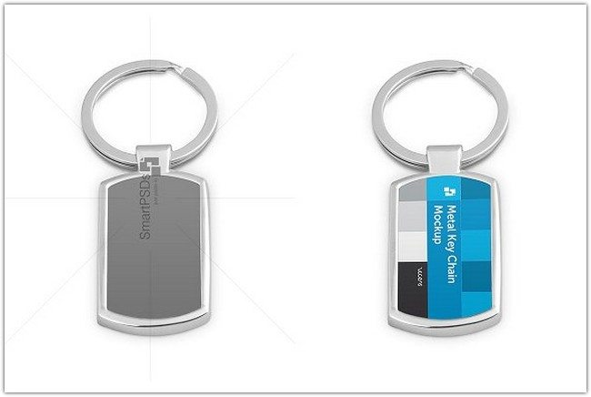 Metal Key-chain PSD Template