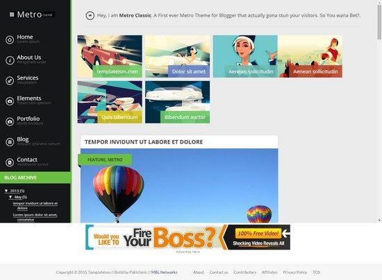 Metro Classic Metro UI Blogger Template