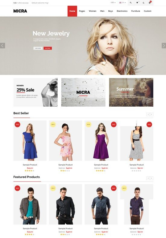 Micra - Multipurpose eCommerce HTML Template