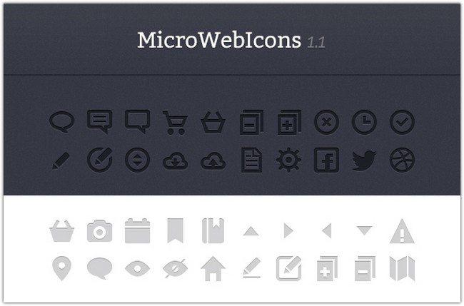 MicroWebIcons 1.2 – Retina Ready