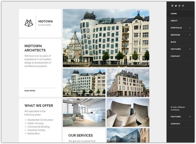 Midtown Architects - Responsive Business Portfolio