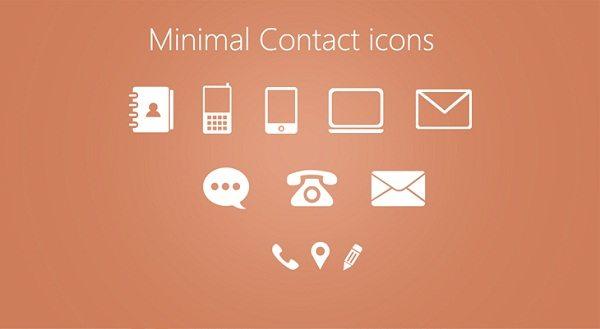 Minimal-Contact-Icons-PSD