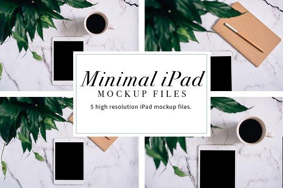 Minimal iPad Mockups