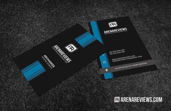 Minimalist Vertical Business Card Template