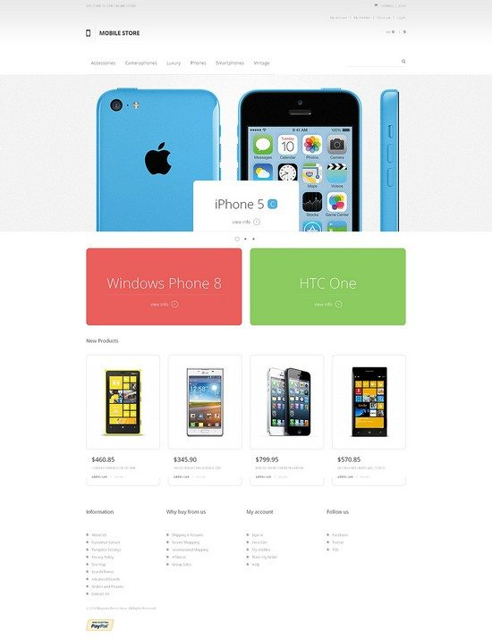 Mobile Heaven Magento Theme