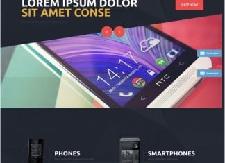 Phone Shop Magento Theme
