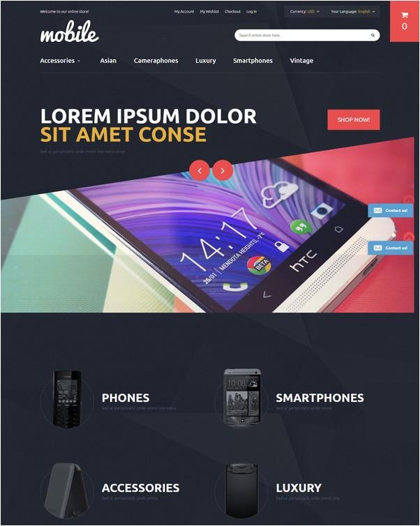 Phone Shop Magento Theme