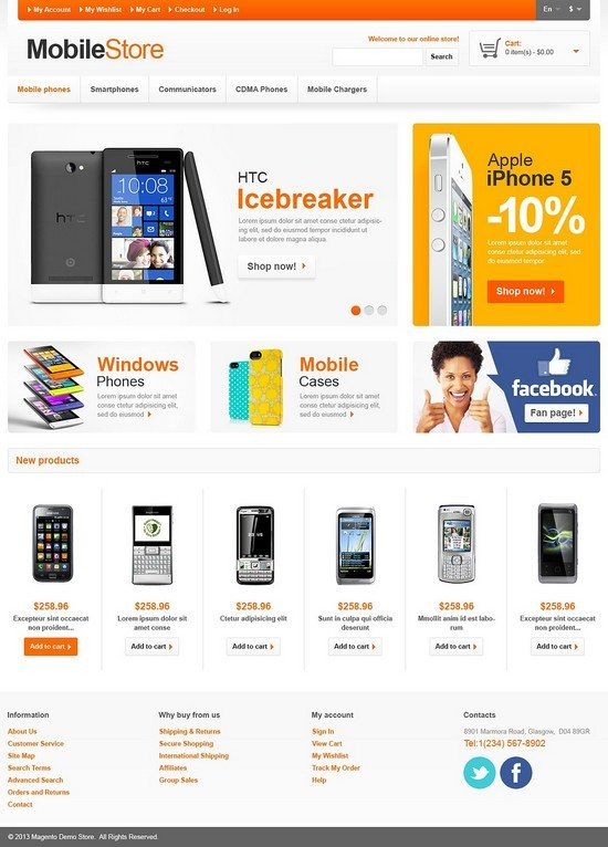 Mobile Responsive Store Magento Theme