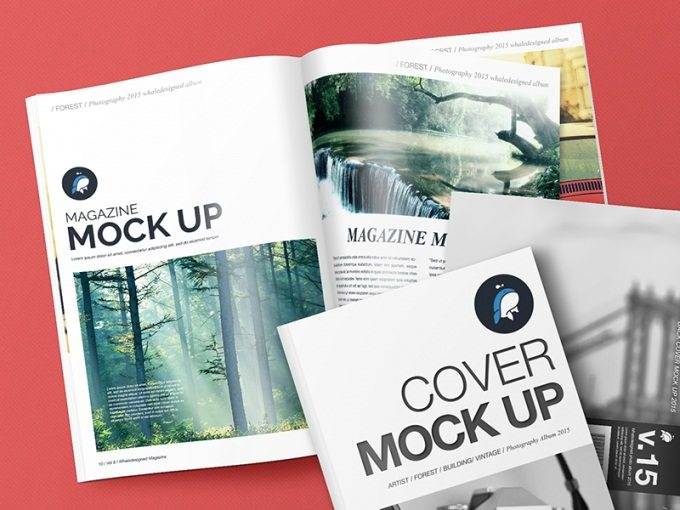 Mockup – Magazine with Cover and Back Cover