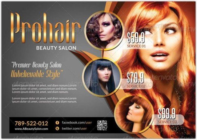 Modern Beauty Salon - Flyer Template