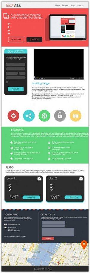 Modern Flat Design Template PSD
