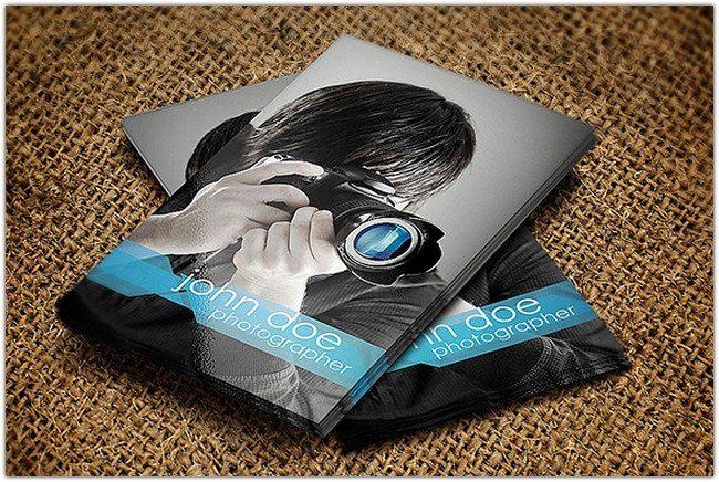 Modern Photo Studio PSD card identity