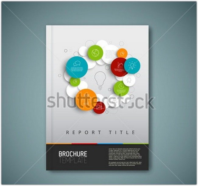 Modern Vector abstract brochure