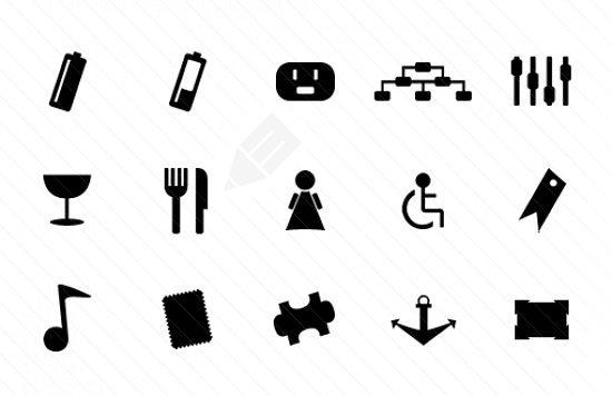 Monochrome Symbols Icon Set 4