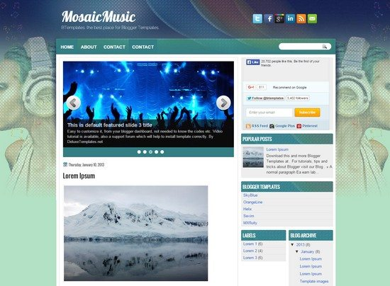 Mosaic Music Blogger Template