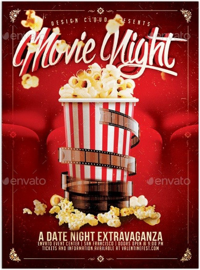 Movie Dat Night Flyer Template