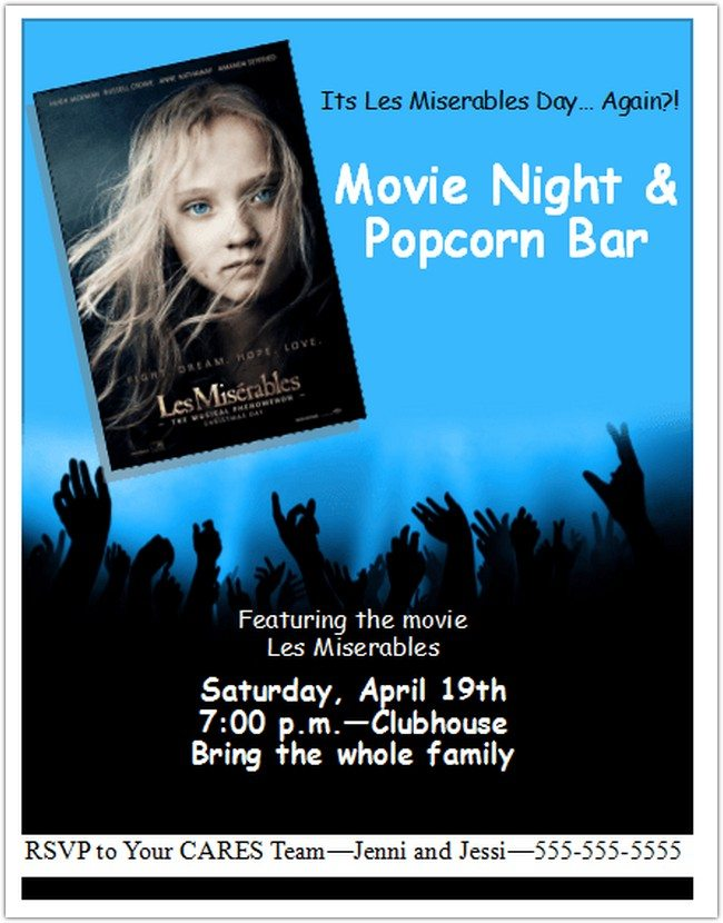 Movie Party Flyer Template